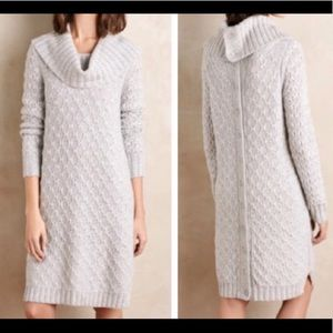 Anthropologie sparrow gray wool knit dress size md